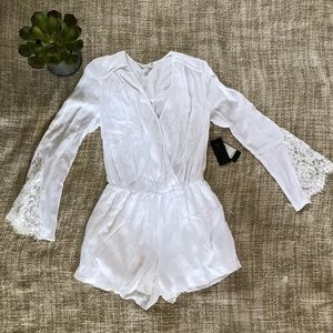 NWT Guess lace mix romper